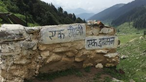 Army empty post on a road Bhaderwah from Sarthal