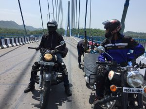 Bikers at Atal Setu Bridge